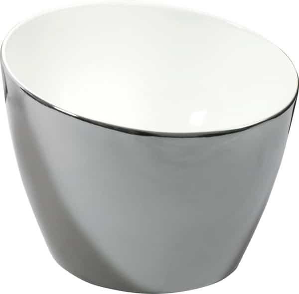 Lavabo Eclipse plata blanco