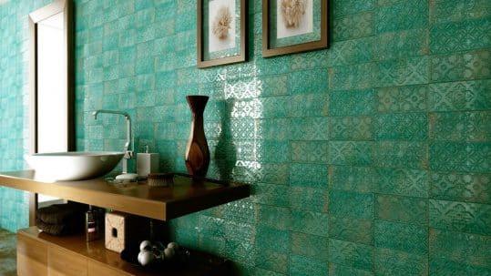Revestimiento cerámico azulejo vintage