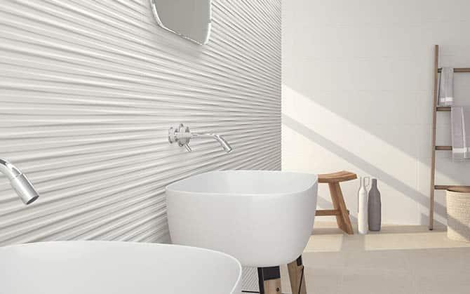 Azulejos baño blanco mate