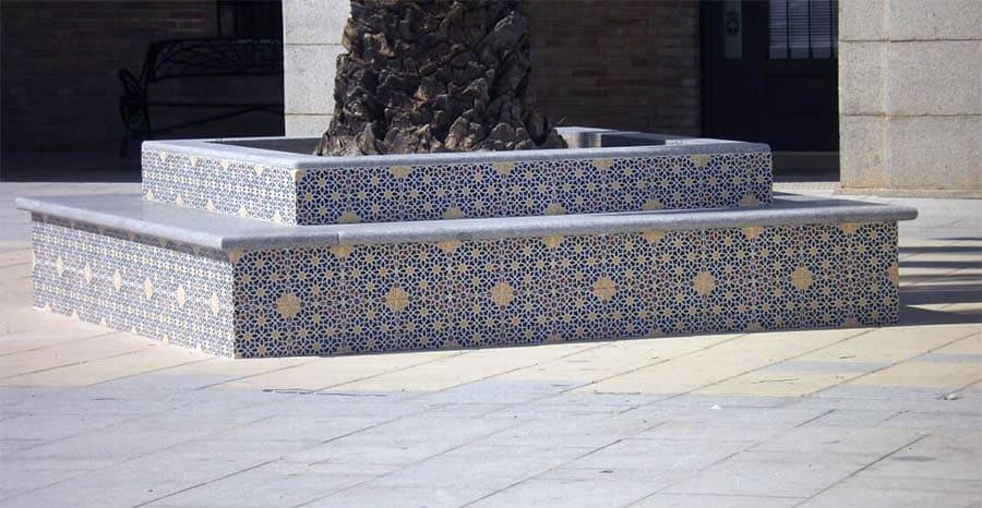 Zocalada andaluza patio exterior